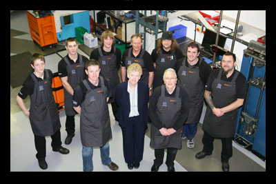 The Maxton team in their new workshop